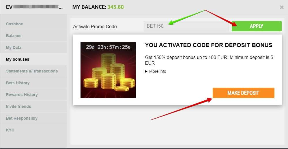 How to Activate a GGBet Promo Code